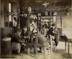 an old Turkish coffehouse - eski bir Türk kahvehanesi #istanbul (1900s) #istanlook
