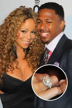 Nick Cannon proposed to his music diva wife with this massive 15-carat sparkler.