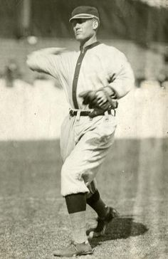 """Posed action of Walter Johnson of the Washington Senators, 1907 - BL-1521-68WTa (National Baseball Hall of Fame Library): """"We idolized that guy. Just sat there and watched him pitch. Down around the knees—woosh! One after the other. He had something all right. I pitched against a lot of guys and saw a lot of guys throw, and I haven't seen one yet come close to as fast as he was. """" Lefty Grove"""