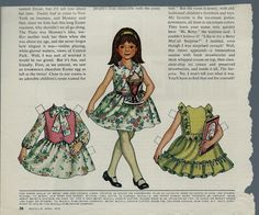 "1972 Vintage Betsy McCall ""Easter in New York"" Paper Doll"