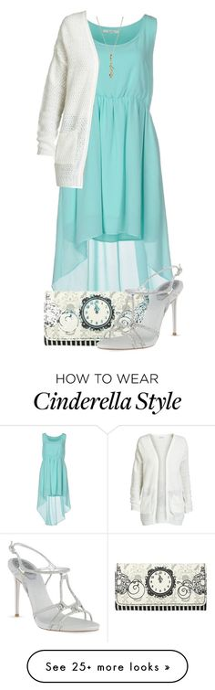 """Winter Cinderella Disneybound"" by tarabooklover on Polyvore featuring Duck Farm, ONLY, Disney Couture, Disney, René Caovilla, cinderella, disneybound and cinderelladisneybound"