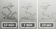 Speed Drawing Challenge Asks Artists To Sketch In 10 Mins, 1 Min, And 10 Secs | Bored Panda