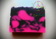 Black Cherry Soap.  Handmade Soap made with Coconut oil, Olive oil, Palm oil, lye, Water, Aloe Vera Oil, Mica Mineral Powders, and fragrance oil.  Very moisturizing!  Each  bar is about 4.5 oz.