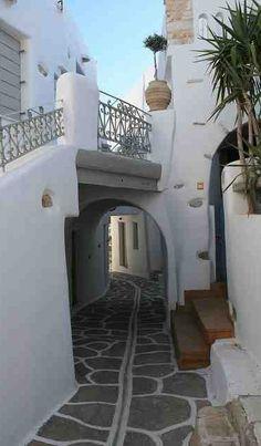 Alley in Paros island
