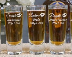 Personalized Will You Be My Bridesmaid Shot by LetsTieTheKnot