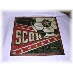 Soccer Bedroom Accessories | Score Soccer Ball Wooden Boys Sports Bedroom Decor Sign Wood Signs