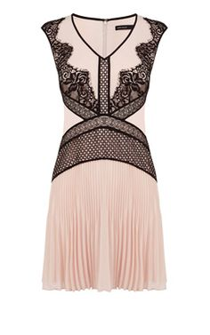 Placed Lace Dress
