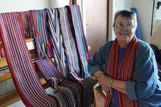 Nanaimo weaver preserves heritage art - Nanaimo News Bulletin Finger Weaving, News Bulletin, Red River, Yarn Crafts, Bead Weaving, Shawls, Sash, Preserves, Belts