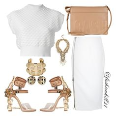 Untitled #1258 by fashionkill21 on Polyvore featuring polyvore fashion style 3.1 Phillip Lim Elizabeth and James Dsquared2 Erickson Beamon CC SKYE St. John women's clothing women's fashion women female woman misses juniors