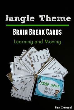 Brain Breaks are the best!  Perfect for a jungle theme or unit!  Can be used all year!