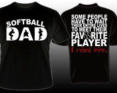 Proud Softball Dad Favorite Player T-shirt