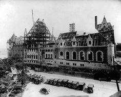 Début de la construction du Château Frontenac en 1892