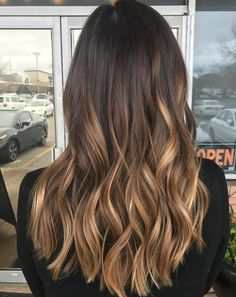 160 amazing golden blonde hair color ideas for women 2019 page 29 ~ - All About Hairstyles Ombre Hair Color, Hair Color Balayage, Hair Highlights, Blonde Color, Blonde Ombre, Dark Brown Hair With Highlights Balayage, Golden Highlights, Brown Ombre Hair, Golden Blonde Hair