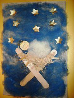 OviVarázs: Kis Jézuska jászolban: spatulából és gyapjúból