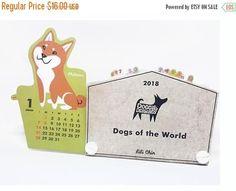 ON SALE Dogs of the World Slide Calendar 2018  Shiba Inu