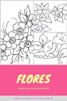 desenhos para pano de prato flores