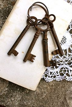 beautiful.quenalbertini: Keys and lace
