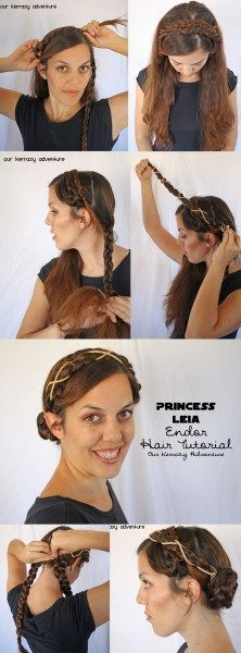 princess leia hair styles princess leia step by step twist the hair 6544