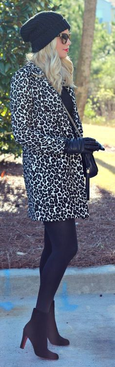 City 'Chic' Fashion & Style ❤ Leopard Coat