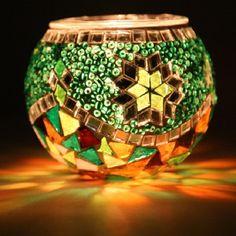 Turkish Handmade Mosaic Candle Holder by anatolanmosacbazaar, $15.00