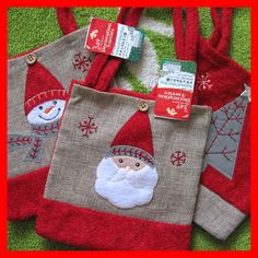 X'mas Christmas Red Decoration Bag Santa claus tree snowman Deer pick 1 #Unbranded