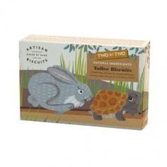 Two by Two The Hare & The Tortoise Biscuits available from The Fine Cheese Co. website - finecheese.co.uk