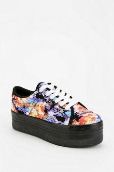 Jeffrey Campbell ZOMG Floral Canvas Flatform Sneaker Jeffrey Campbell