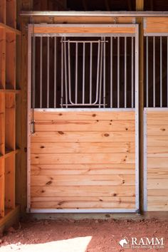Pictured is an Essex horse stall front that has a v-door opening and v-insert. This door style allows your horses to socialize with any horses or people in the barn aisle. Assemble your hown horse stall on a weekend before the polar coaster blows in this winter so your horses are comfortable and not cold in the pasture 🌬❄️ #essexstalls #rammprojects #horsestalls #horsestable #rammstalls #horses #horsestallideas #dreambarn #dreamfarm #equestrianideas #diy #diyhorsestalls #barndiy #polarcoaster