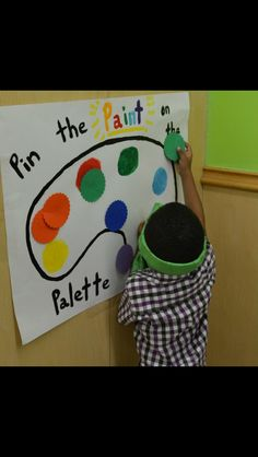 art birthday - pin the paint on the palette