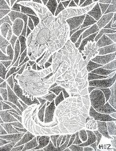 Título: El conejo enamorado Autor: Atemoc de la Hoz Técnica: Tinta China