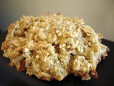 Quinoa Powerball Cookies: Bananas, vanilla, Quinoa, Rolled Oats, Coconut Flakes, & DARK Chocolate Chips (optional)
