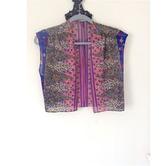 Vintage Boho Sheer Vest Super pretty boho vintage top! No enclosure in the front. Would be perfect for a cute festival outfit. Size Sm. Vintage Tops