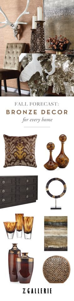 Get easy ideas for infusing the warmth of bronze in your space this fall. Explore our Mixed Metals Collection on zgallerie.com!
