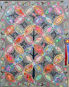 Best of Show: Pickled Birds by  Rebecca (Beckey) Prior.  2016 Quilters Guild of Dallas (Texas).
