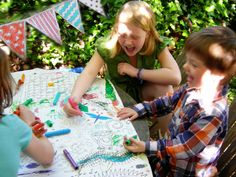 Colouring in tablecloths, perfect for parties alfresco!