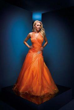 Ballroom dress in orange