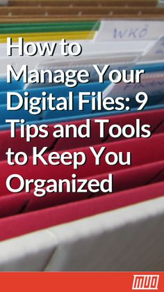 How to Manage Your Digital Files 9 Tips and Tools to Keep You Organized is part of Organization Life Productivity - Here are the best tips, tools, and methods you can adopt to manage your digital life like a pro and lead a more organized life Computer File, Computer Technology, Computer Programming, Organizing Paperwork, Paper Organization, Planners, Learning Websites, Electronic Filing System, How To Clean Computer