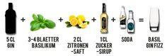 Basil Gin Fizz Cocktail Rezept