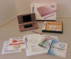 Nintendo DS Lite Metallic Rose Bundle in Original Box w paperwork Works Great! #NintendoDSLite