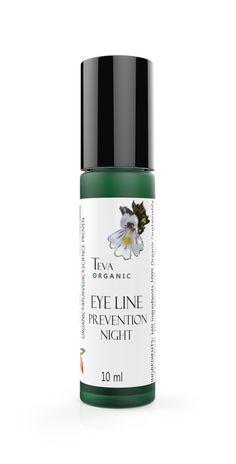 Teva Skin Care - EYELINE PREVENTION OIL - Organic Overnight Eye (Crow's Feet) Treatment Serum - Lightweight