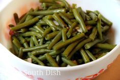 Deep South Dish: Old Fashioned Slow Stewed Southern Green Beans