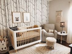 Nursery Modern, Nursery Neutral, Neutral Nurseries, Rustic Nursery Boy, Hunting Theme Nursery, Rustic Baby Rooms, Natural Nursery, Modern Nurseries, Baby Room Design