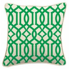 Green Trellis Cushion Cover