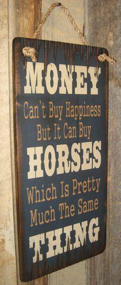 Money Can't Buy Happiness But It Can Buy door CowboyBrandFurniture