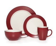 Harmony Everyday 16 Piece Dinnerware Set  sc 1 st  Pinterest & Virgina 16 Piece Dinnerware Set Service for 4 | Pinterest