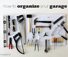 Hi Sugarplum | Easy Garage Organization!!