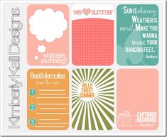 Free project life journaling cards.