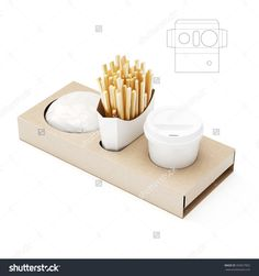 Blank Fast Food Menu Tray Package with Die Cut Template Cake Boxes Packaging, Food Box Packaging, Food Packaging Design, Menu Fast Food, Food Menu, Coffee Holder, Food Trays, Fries In The Oven, Box Design