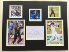 """New #zealand cricket brendon mccullum #signed 16""""x12"""" double #mounted display,  View more on the LINK: http://www.zeppy.io/product/gb/2/272356984904/"""