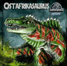 Ostafrikasaurus_Evo:JW the game Jurassic World Hybrid, Jurassic World Fallen Kingdom, Jurassic Park World, Dinosaur Photo, Dinosaur Art, Jurassic Park 1993, Historia Natural, Jurassic World Dinosaurs, World Movies
